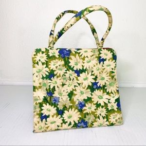 Vintage Bags - Vintage Margaret Smith Floral Handbag Purse